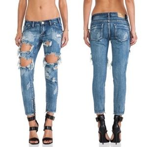 One Teaspoon | Trashed Freebirds Distressed Jeans